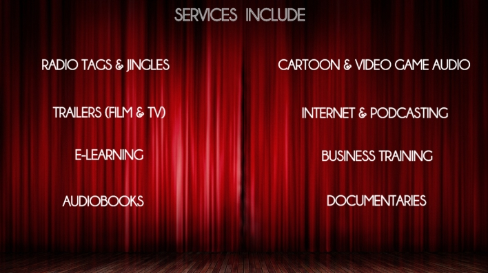VOICE OVER SERVICES PIC CURTAIN